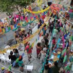 The small centrale square of Torri Superiore comes alive with celebrations and concerts