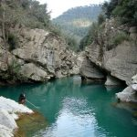The swimming grotto in the Bevera River