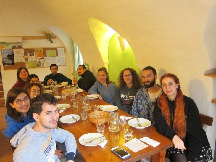 last dinner for the course participants permaculture at the ecovillage torri superiore